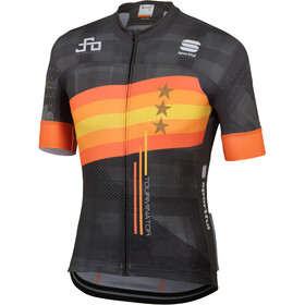Sportful Sagan Stars Bodyfit Team Jersey Herr black/orange